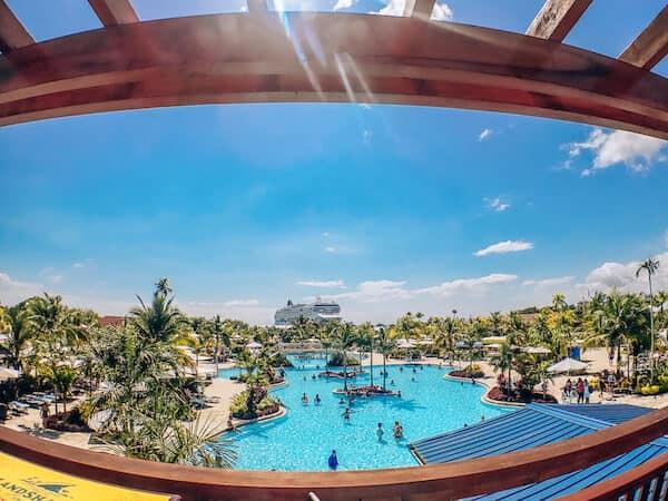 Pool at Harvest Caye Belize