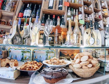 Beautiful baked goods from Gusto Caprese in Capri