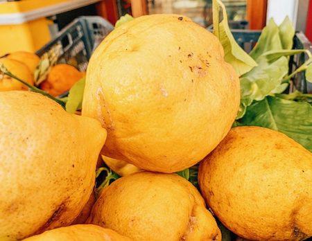 Big yellow lemons in Capri, italy