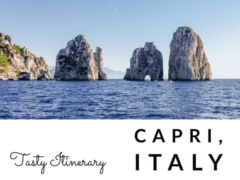 Things to do in Capri, Italy in a day! >> Tasty Itinerary #capri #italy #italyvacation #daytrip #tastyitinerary #exploreamalfi #mountsolaro #capriitalythingstodo #islandofcapri