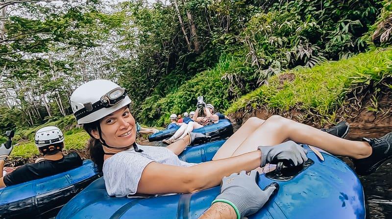 Mountain tubing in Kauai • 7 Days in Kauai Itinerary • TastyItinerary.com