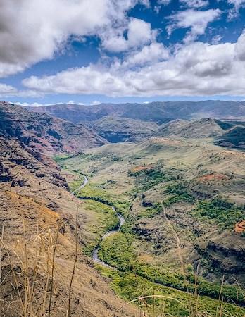 Luscious canyons in Waimea