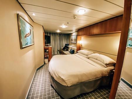 Inside of balcony cabin 12147 on Celebrity Equinox cruise ship