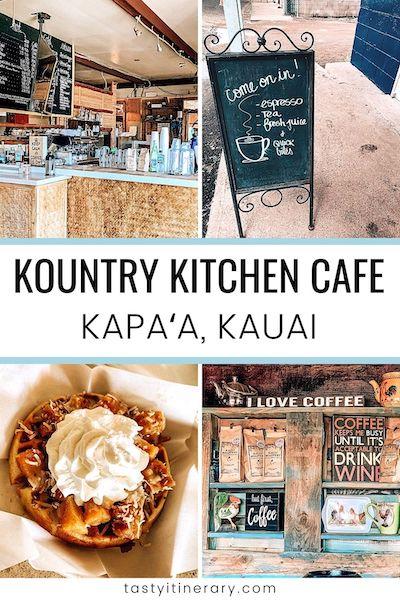 kountry kitchen in Kapa'a kauai | pinterest marketing image