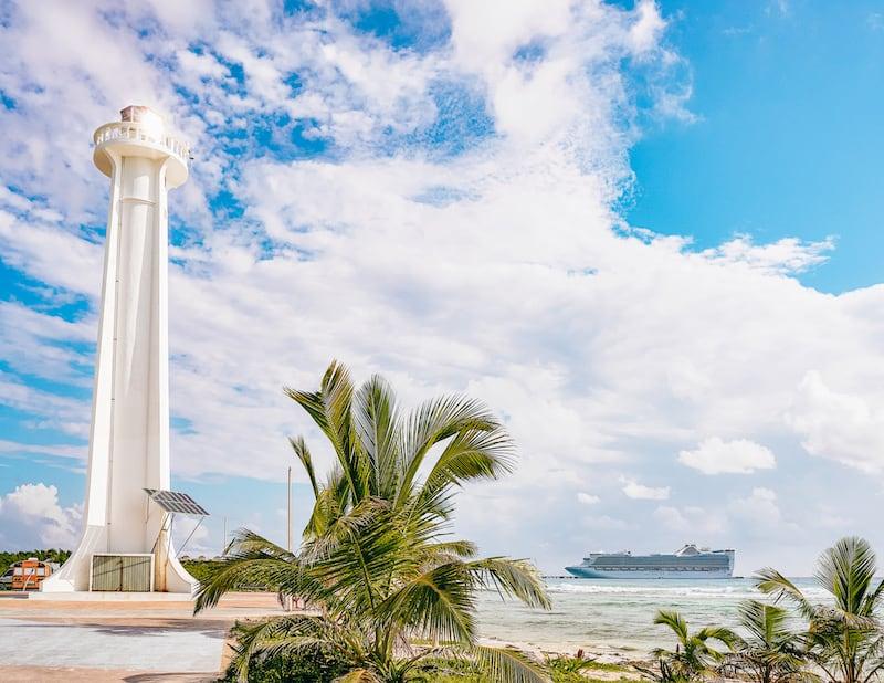 Mahahual Lighthouse in Costa Maya