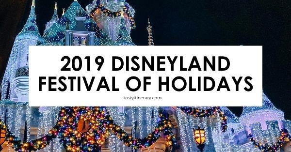 holidays at disneyland | blog post cover
