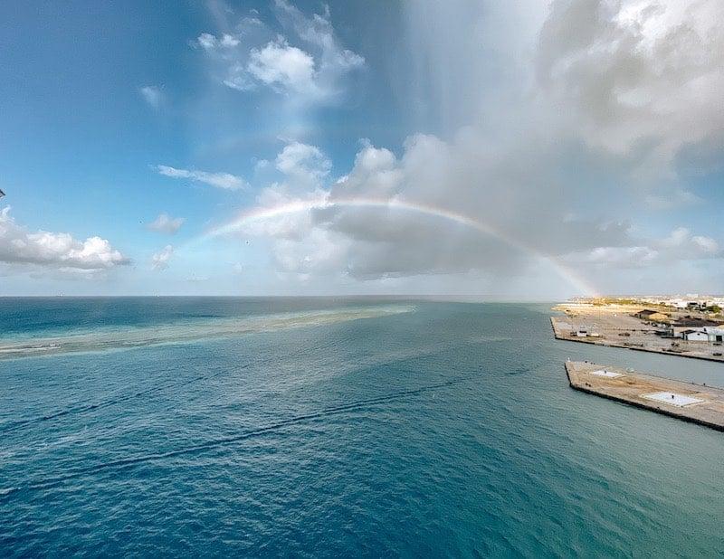 Rainbow Over Oranjestad Aruba Cruise Port