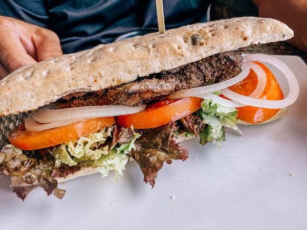 Steak Sandwich for lunch