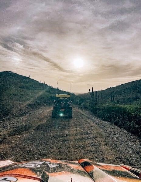 Driving out of Arikoki National Park