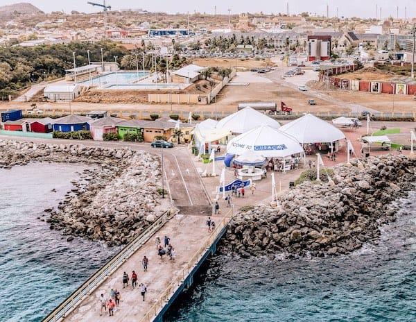 Curacaco Mega Cruise Ship Pier