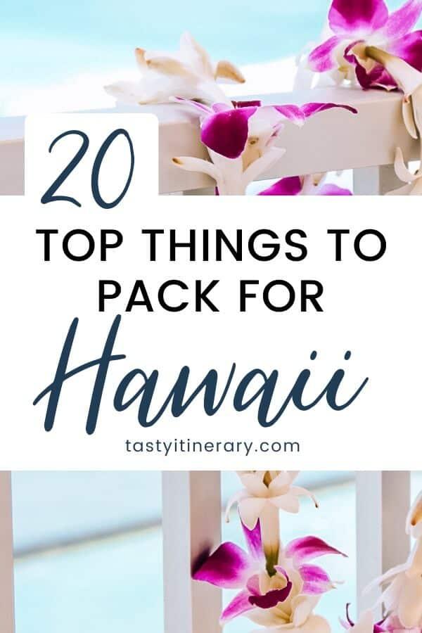 pinterest marketing image   Hawaii packing list