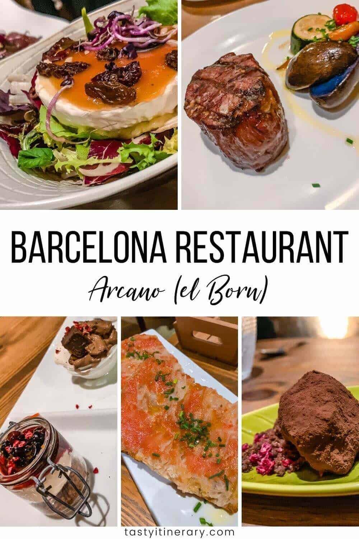 Arcano restaurant in Barcelona Spain