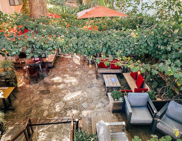 Winery tasting room patio