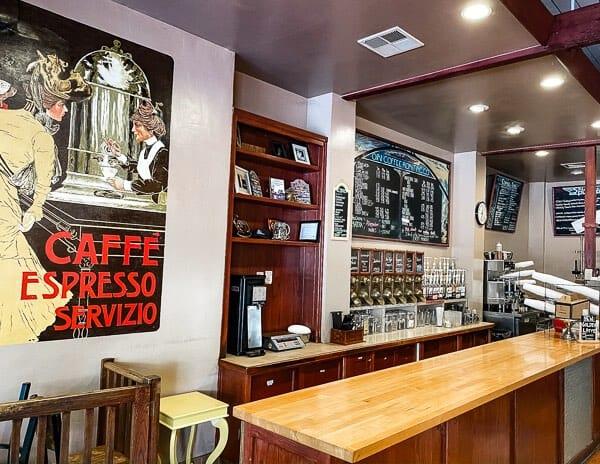 Inside Ojai Coffee Roasting