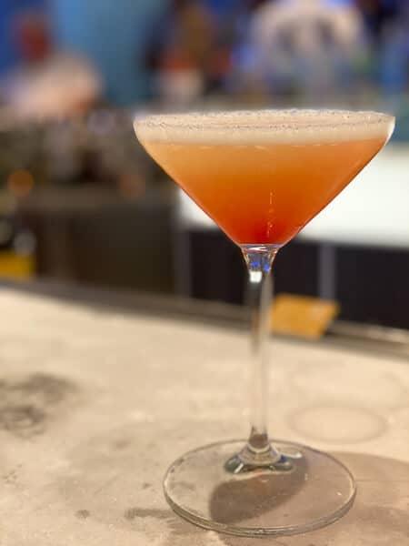 sunrise martini from the martini bar on celebrity equinox