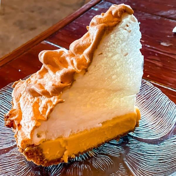 slice of blue heaven key lime pie