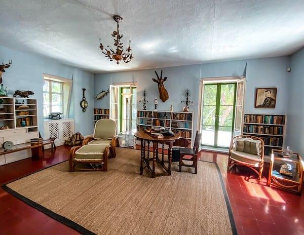 Hemingway's office in his Key West home