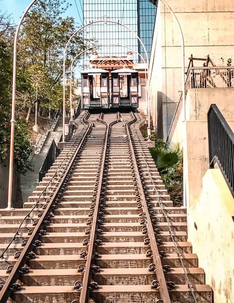 railway tracks and funicular