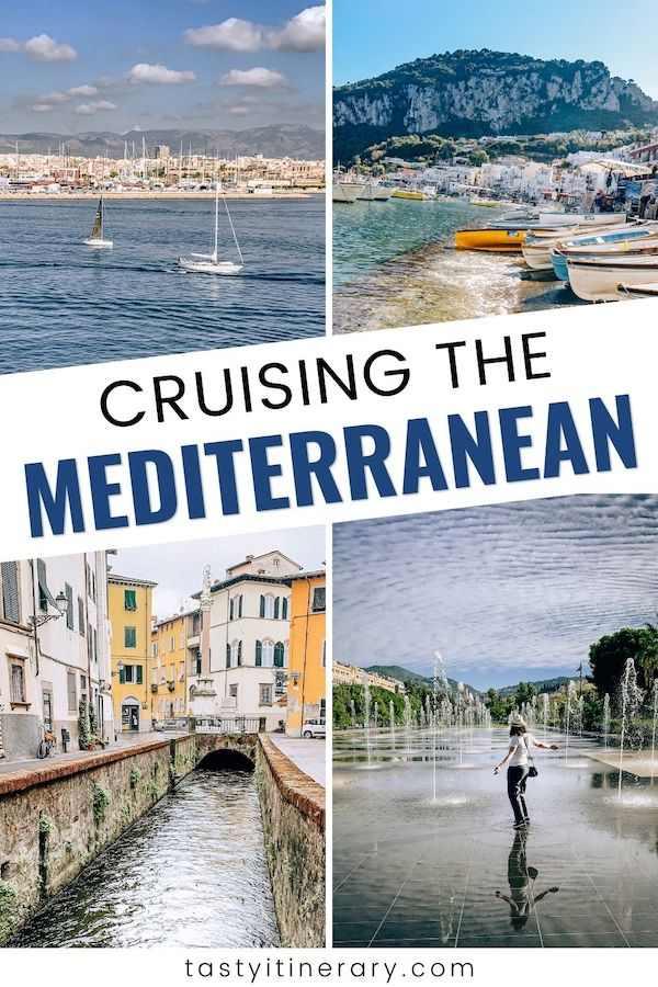 western mediterranean cruise ports | pinterest marketing image
