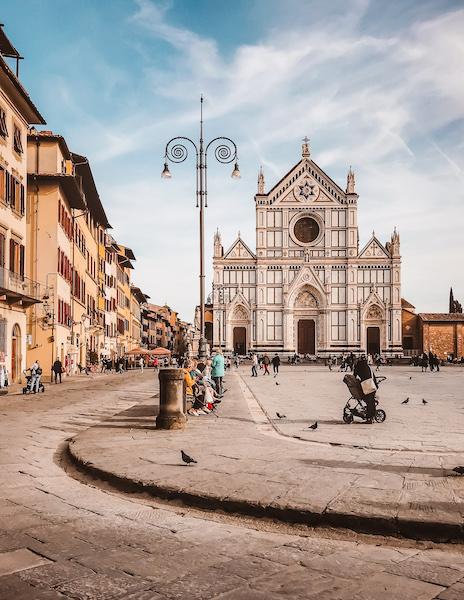 Outside Santa Croce Basilica