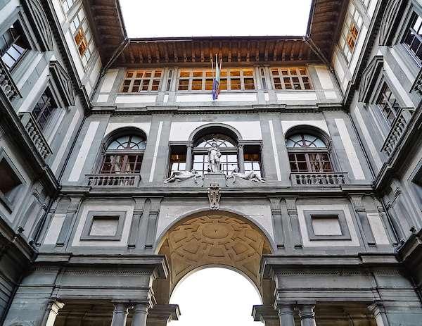 Outside of the Uffizi